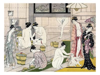 Bathhouse Women, Japanese Wood-Cut Print-Lantern Press-Art Print