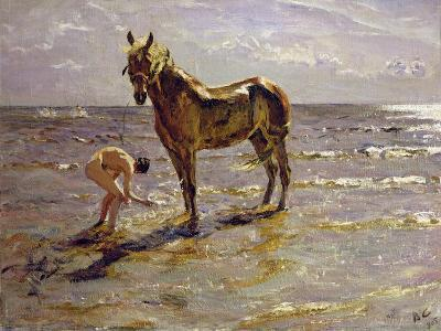 Bathing a Horse, 1905-Valentin Aleksandrovich Serov-Giclee Print