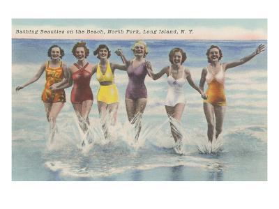 Bathing Beauties, North Fork, Long Island, New York--Art Print