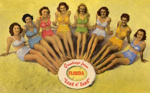 Bathing Beauties on Beach, Florida