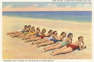 Bathing Beauties on Miami Beach, Florida