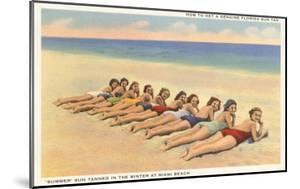 Bathing Beauties on Miami Beach, Florida