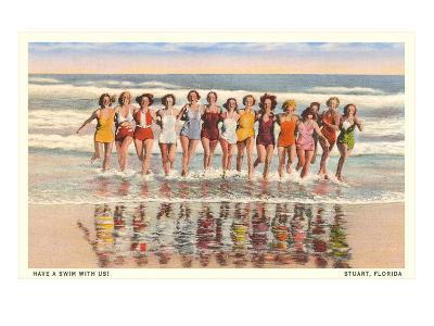 Bathing Beauties, Stuart, Florida--Art Print