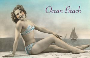 Bathing Beauty on Ocean Beach, San Diego, California