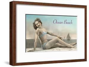Bathing Beauty on Ocean Beach, San Diego, California
