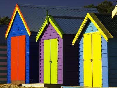Bathing Boxes, Middle Brighton Beach, Port Phillip Bay, Melbourne, Victoria, Australia-David Wall-Photographic Print