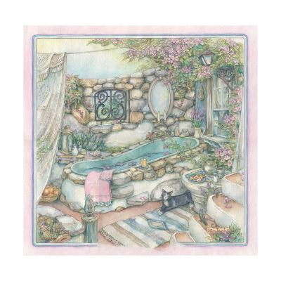 Bathing Cobblestone Way Style-Kim Jacobs-Giclee Print