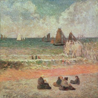 Bathing, Dieppe, 1885-Paul Gauguin-Giclee Print