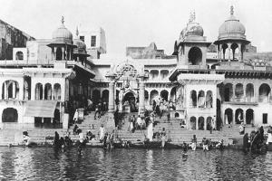 Bathing Ghat on the Yamuna River, Muttra, 1917