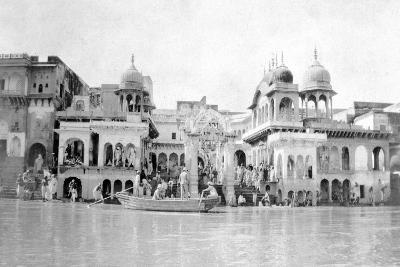 Bathing Ghats, Mathura, India, 1916-1917--Giclee Print