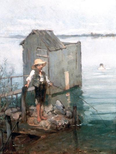 Bathing Hut with Boy, 1868-Pal Szinyei Merse-Giclee Print