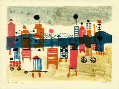 Bathing Hut-Anneliese Everts-Giclee Print