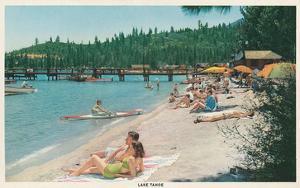 Bathing on Beach, Lake Tahoe