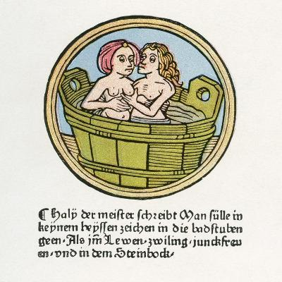 Bathing Scene from the Middle Ages--Giclee Print