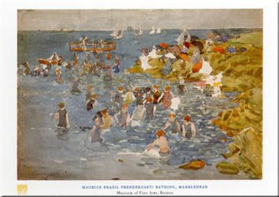Bathing-Maurice Brazil Prendergast-Art Print