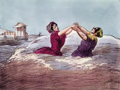 Bathing- Cham-Giclee Print