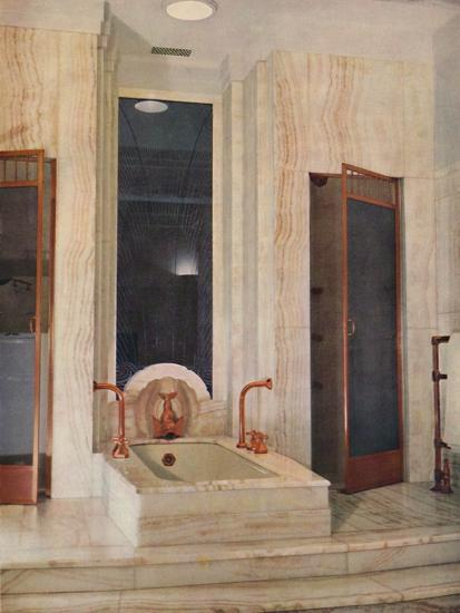 'Bathroom by F. D. Blake, W. N. Froy & Sons', 1939-Unknown-Photographic Print