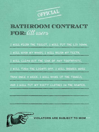 Bathroom Contract-Longfellow Designs-Art Print