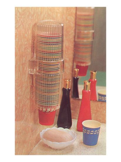 Bathroom Paper Cup Dispenser--Art Print