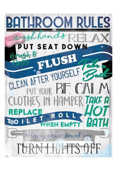 Bathroom Rules-Milli Villa-Art Print