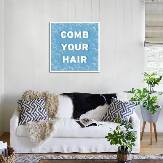 home decor bathroom signs.htm bathroom signs bubbles comb your hair art print by bg studio  comb your hair art print by bg studio