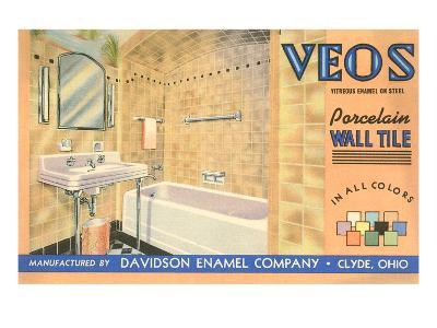 Bathroom Tile Advertisement--Art Print