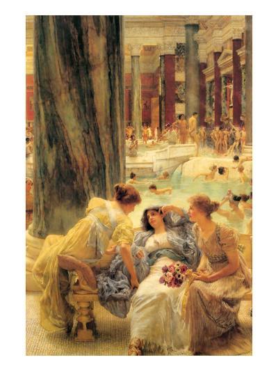 Baths of Caracalla-Sir Lawrence Alma-Tadema-Art Print