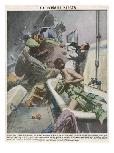 Bathtime Disturbed 1935--Giclee Print