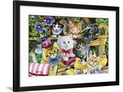 Bathtime Kittens-Jenny Newland-Framed Giclee Print