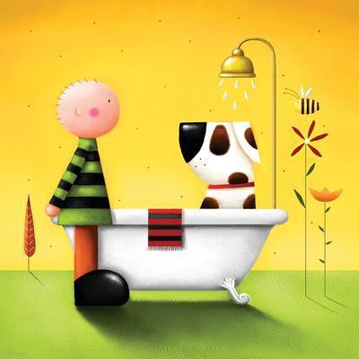 Bathtime-Jo Parry-Premium Giclee Print