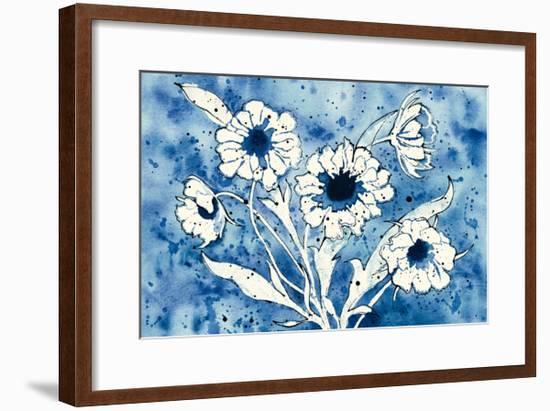 Batik Flowers Crop-Shirley Novak-Framed Art Print
