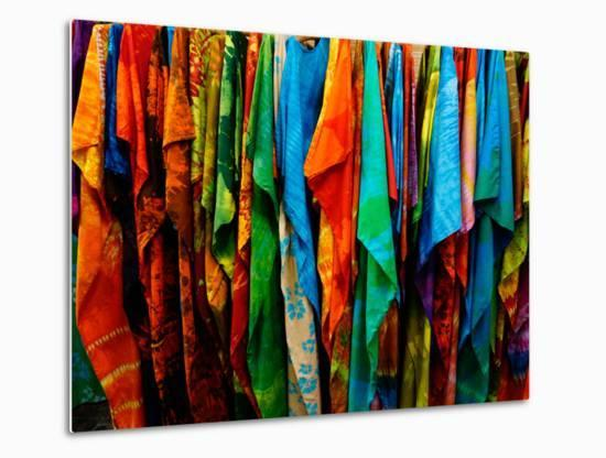 Batik, St. Kitts, St. Kitts and Nevis, Leeward Islands, West Indies, Caribbean, Central America-Robert Harding-Metal Print