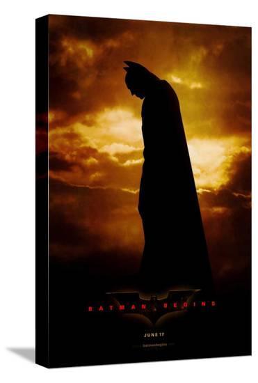 Batman Begins--Stretched Canvas Print