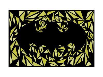 Batman Symbol-Cristian Mielu-Art Print