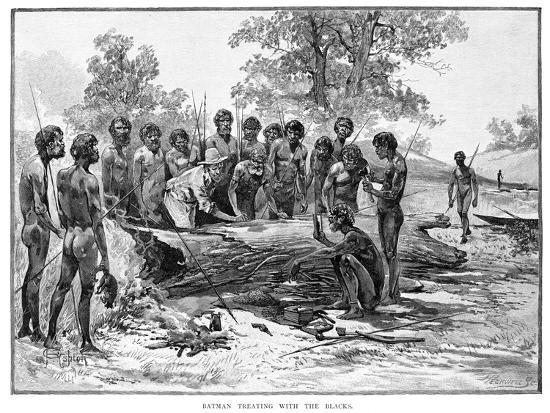 Batman Treating with the Blacks, 1835-Julian Ashton-Giclee Print