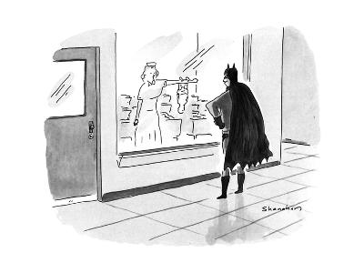 Batman watching through the maternity ward window as his newborn infant cl… - New Yorker Cartoon-Danny Shanahan-Premium Giclee Print