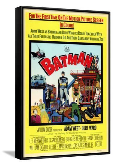 Batman--Framed Canvas Print