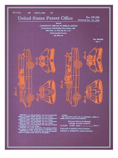 Batmobile Design Blueprint--Art Print