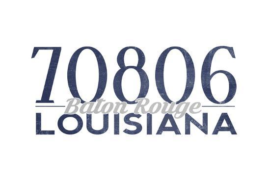 Baton Rouge, Louisiana - 70806 Zip Code (Blue)-Lantern Press-Art Print