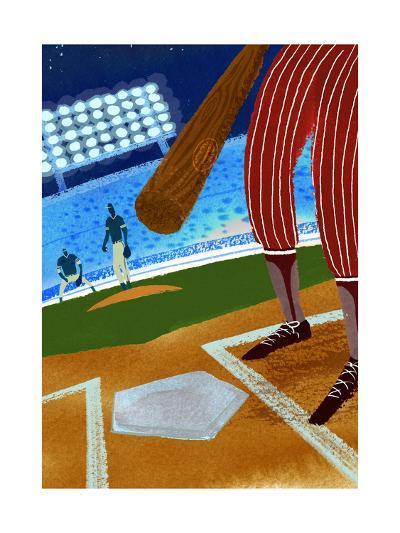 Batter up Baseball--Art Print