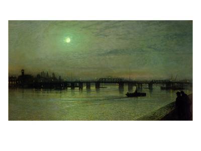 Battersea Bridge, 1885-John Atkinson Grimshaw-Giclee Print