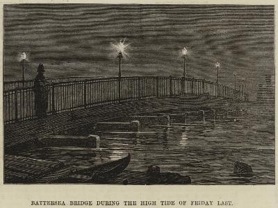 Battersea Bridge During the High Tide of Friday Last--Giclee Print