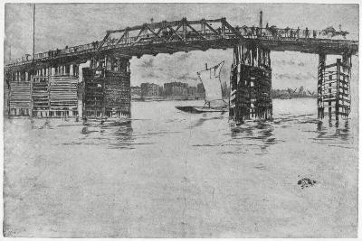 Battersea Bridge, London, 19th Century-James Abbott McNeill Whistler-Giclee Print