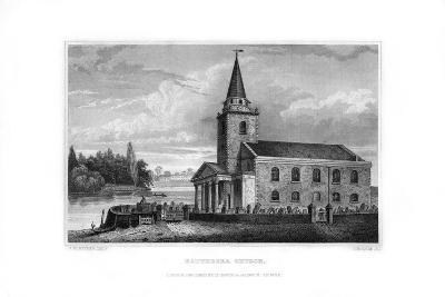 Battersea Church, Battersea, London, 1829-J Rogers-Giclee Print