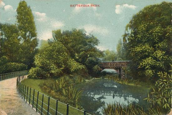 'Battersea Park', c1909-Unknown-Giclee Print