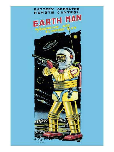 Battery Operated Remote Control Earthman--Art Print