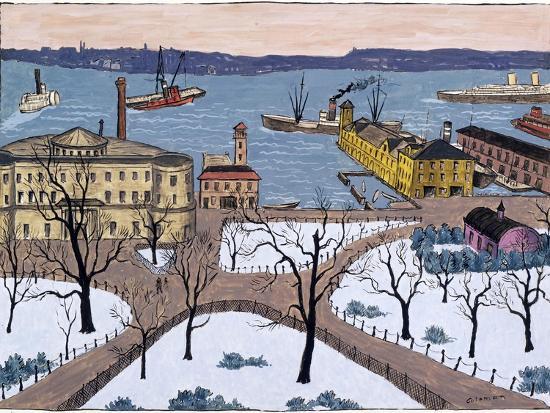 Battery Park-Glenn O. Coleman-Giclee Print