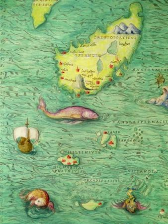 Iceland, from an Atlas of the World in 33 Maps, Venice, 1st September 1553