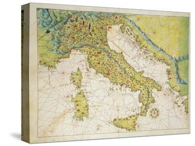 Italy, from Atlas of the World in Thirty-Three Maps, 1553
