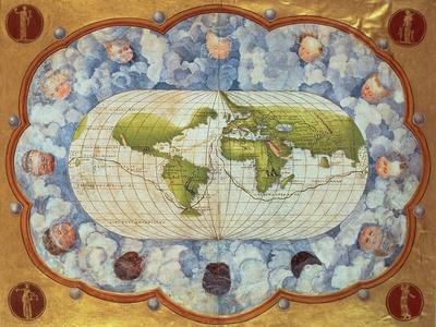 Map Tracing Magellan's World Voyage, Once Owned by Charles V, 1545